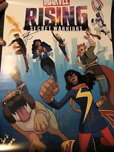 Marvel Rising Secret Warriors Poster NYCC 2018 - Signed By Cast
