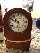 Preferred Stock Quartz Tabletop Clock Solid Wood Case Pendulum Movement