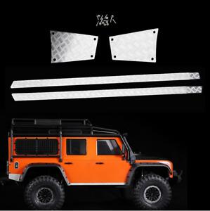 Rear & Side Metal Skid Plate For 1/10 Rc Crawler Car Defender Traxxas Trx4 Car