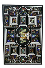 8'x3' Birds Design Marble Rectangle Table Top Inlaid Dining Room Decorate H3946A