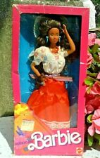 MEXICAN Barbie Doll of the World Mexico Brunette w/Mantilla 1988 Vintage NRFB