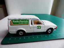 Vintage Corgi Ford Escort 55 Radio Rentals Car Toy Diecast Collectible White Van