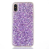 Glitter Diamond Bling Soft Rubber Case Sparkling Cover For iPhone X 8 6s 7 Plus