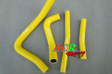 for Suzuki RM250 RM 250 1999 2000 99 00 silicone radiator hose yellow