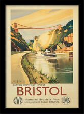 Bristol Clifton Suspension Bridge - Framed 30 x 40 Official Print