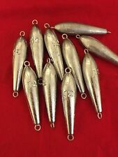 10  12oz TORPEDO IN LINE FISHING SINKERS