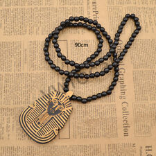 Wooden Egypt Pharaoh Necklace Beads Jewellery Unisex Cool Fashion Travel Gift