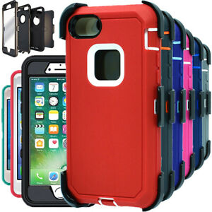 For Apple iPhone 6 6S 7 8 Plus Heavy Duty Case Cover with Belt Clip & Screen