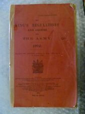 Book- 1914 King's Regulations and Orders for the ARMY (8 king's 464) War Officer