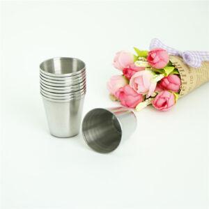 10Pcs 30ml Portable Stainless Steel Wine Drinking Shot Glasses Barware Cu ZtNDU