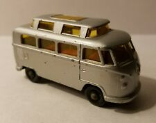 Matchbox Lesney No. 34 Volkswagen Camper High Top Roof Silver Clean