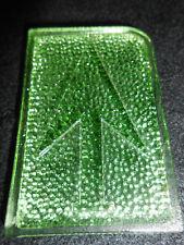 Green Vaseline glass up Arrow Elevator car truck turn signal uranium lens canary