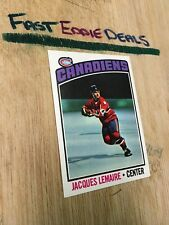 TOPPS HOCKEY 1976-77 JACQUES LEMAIRE CARD 129 MONTREAL CANADIENS EXCELLENT