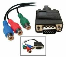 """VGA HD15 to 3 x RCA Component Video Cable (6"""")"""