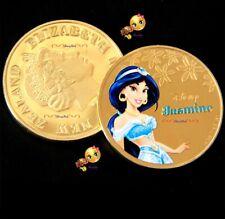 DISNEY PRINCESS ✨ JASMINE ✨ COMMEMORATIVE GOLD PLATED COINS FREE POSTAGE ✨