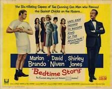 BEDTIME STORY Movie POSTER 22x28 Half Sheet Marlon Brando David Niven Shirley