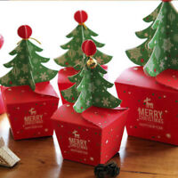 Merry Christmas Tree Bell Party Paper Favour Gift Candy Cupcake Bags Boxes