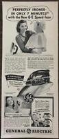 ORIGINAL 1940 General Electric GE Speed Iron Print Ad Mixer Coffee Maker Blurbs