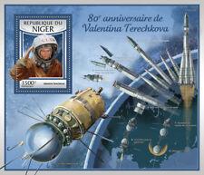 Níger 2017 estampillada sin montar o nunca montada Valentina Tereshkova 80th Cumpleaños Vostok 6 1 V S/S sellos de espacio