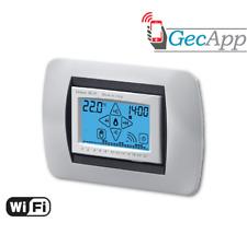 Cronotermostato GECA Gecapp Grenn Wi Fi touch screen da incasso bianco 35282384.