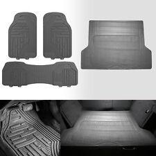 Heavy Duty Gray Floor Mats & Gray Cargo Mat Combo for Auto Car SUV