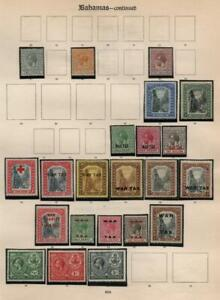 BAHAMAS: George V Examples - Ex-Old Time Collection - Page (39368)