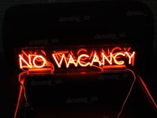 """Rare New No Vacancy With switch on/off for word NO Acrylic Neon Light Sign 24"""""""