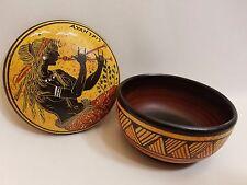 Greek Mythology Auletris Rare Hellenic Ancient Art Pottery Jewelry Case