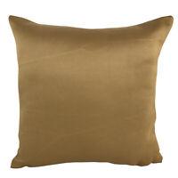 "Ochre Nylon Matte Gold Cushion Covers Shop 17x17"" / 43x43cm"