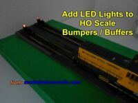 Modified Atlas HO Scale code 100 #843 Bumper with LED light added