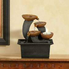"""Zen Indoor Tabletop Water Fountain 7"""" Cascading Cups for Table Desk Office Home"""