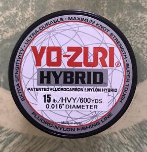 Yo-zuri Hybrid Fluorocarbon Fishing Line 15lb Hivis Yellow 600yd