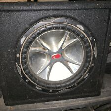 Old school 12 Inch Kicker Subwoofer In Ported Competition Box