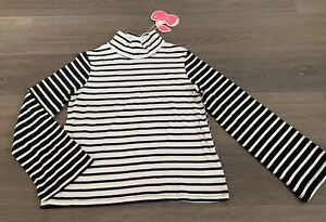 Girls Size 12 Black & White Striped PAVEMENT BRAND Long Sleeve Top *NEW* RRP $36