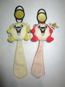 McDonalds 2005 Neopets lot of 2 red Meerca & yellow Meerca tags on