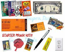 New STARTER PRANK KIT No.1, Lot 15x Pranks All-in-1 Kit, Fake Lotto, Fart Bombs