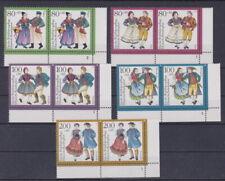 BRD 1993 postfrisch MiNr. 1696-1700 Eck-Rand unten rechts waagerechts Paar