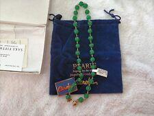 "CAROLEE 18"" GREEN Pearl Necklace - - RARE"