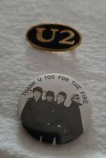 U2 Vintage 80's Concert Pins Badge - Bono - The Edge