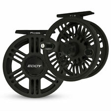 NEW 2016 ROSS EDDY 7/8 LARGE ARBOR DISC DRAG FLY REEL BLACK FOR 7/8 WEIGHT ROD