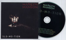 MARILYN MANSON Slo-Mo-Tion UK 4-trk promo CD Dirtyphonics radio edit