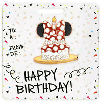 Disney Store Minnie Mouse Happy Birthday Cake Glitter Pin Trading Badge 2020