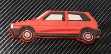Fiat Uno Turbo Fridge Magnet Red