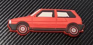 Fiat Uno Turbo Kühlschrank Magnet Rot