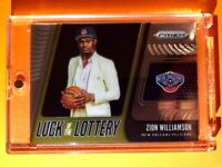 Zion Williamson HOT ROOKIE PANINI PRIZM LUCK OF THE LOTTERY INSERT RC #1 Mint!