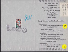 SIGNED PELE PAMPHLET FIRST DAY ISSUE STAMP WORLD CUP 1994 (16)
