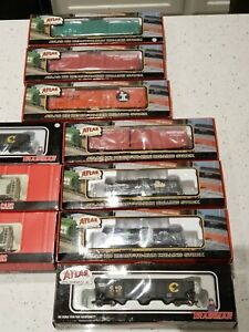New Sealed Lot of 10 Atlas HO Scale Train Cars