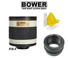 Bower 500mm f/6.3 (ATNEX) Telephoto Mirror Lens for Sony E Mount DSLR Cameras