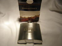 """Boardwalk Empire NEW Flask 6 oz Stainless Steel """"FREE"""" S&H"""