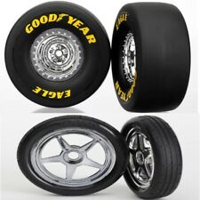 Traxxas 6973 + 6975 Funny Car Mounted Front / Rear Tires S1 Slick